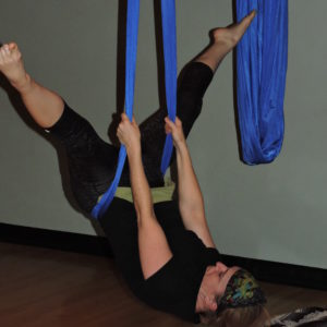 Cherise going into inverted straddle.