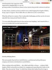 Learn about the aerial arts in San Antonio!